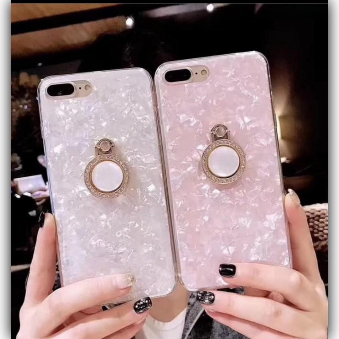 Crystal Case For Vivo Y91C  With 360 RingStand