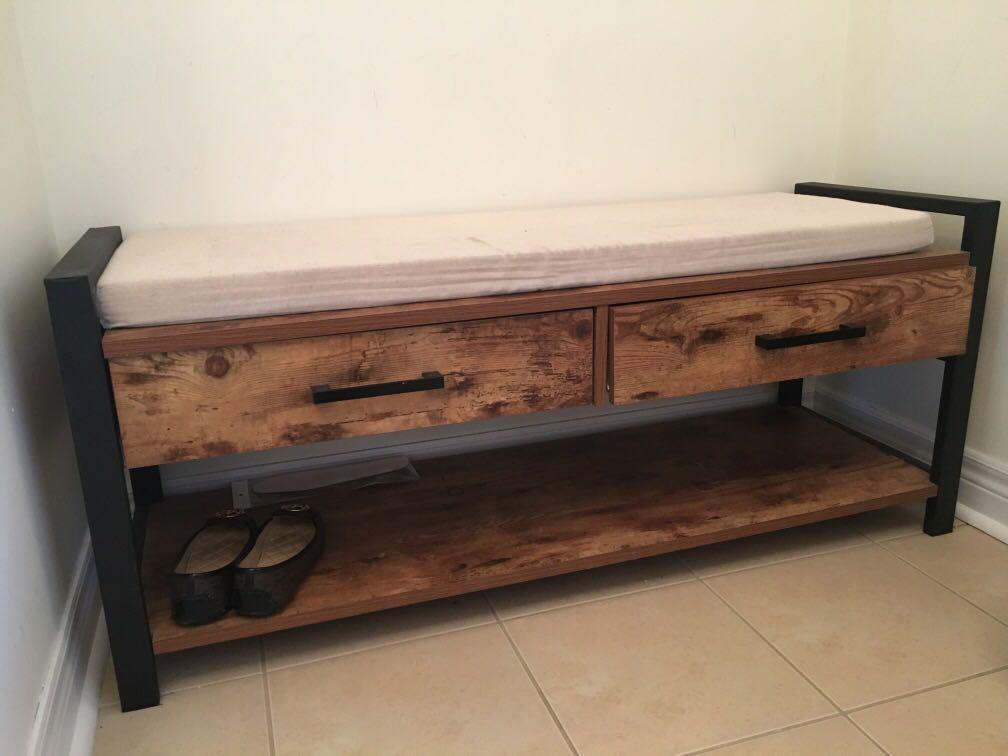 Entryway Bench - Rustic! (Like New)