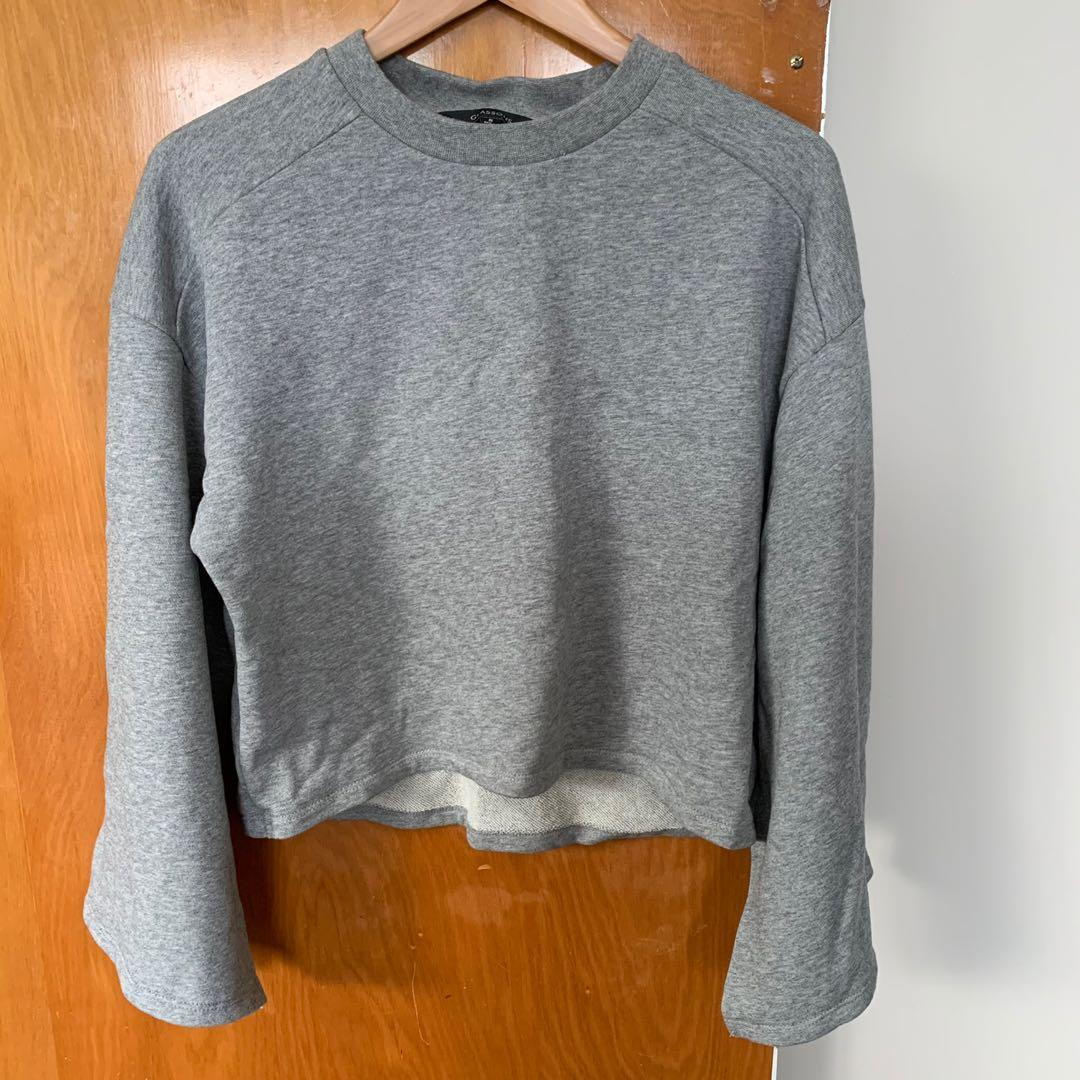 Glassons grey Cropped Sweatshirt