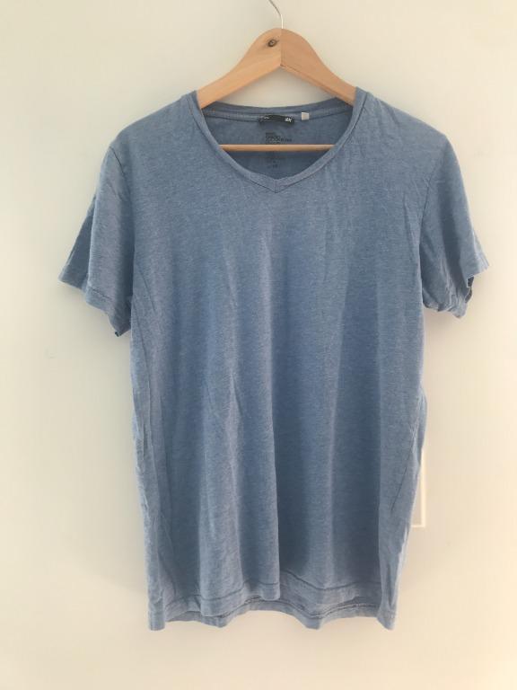 H&M Men's Blue Cotton T-shirt Size Medium