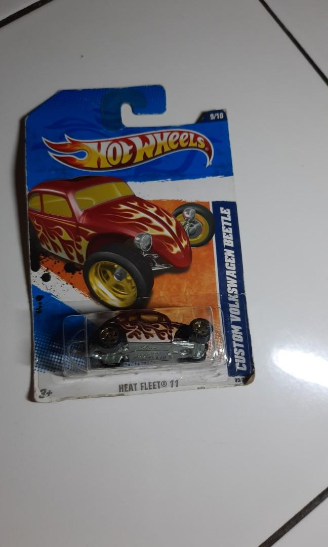 Hotwheels heat fleet custom volkswagen beetle - red