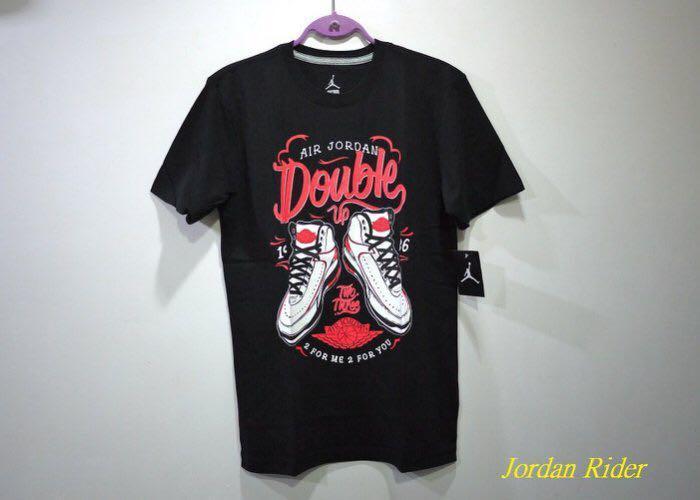 Jordan Rider 喬丹騎士 NIKE Air Jordan II Retro Double Up Tee AJ 2代復刻 白黑紅 黑色 短袖T恤 Infrared