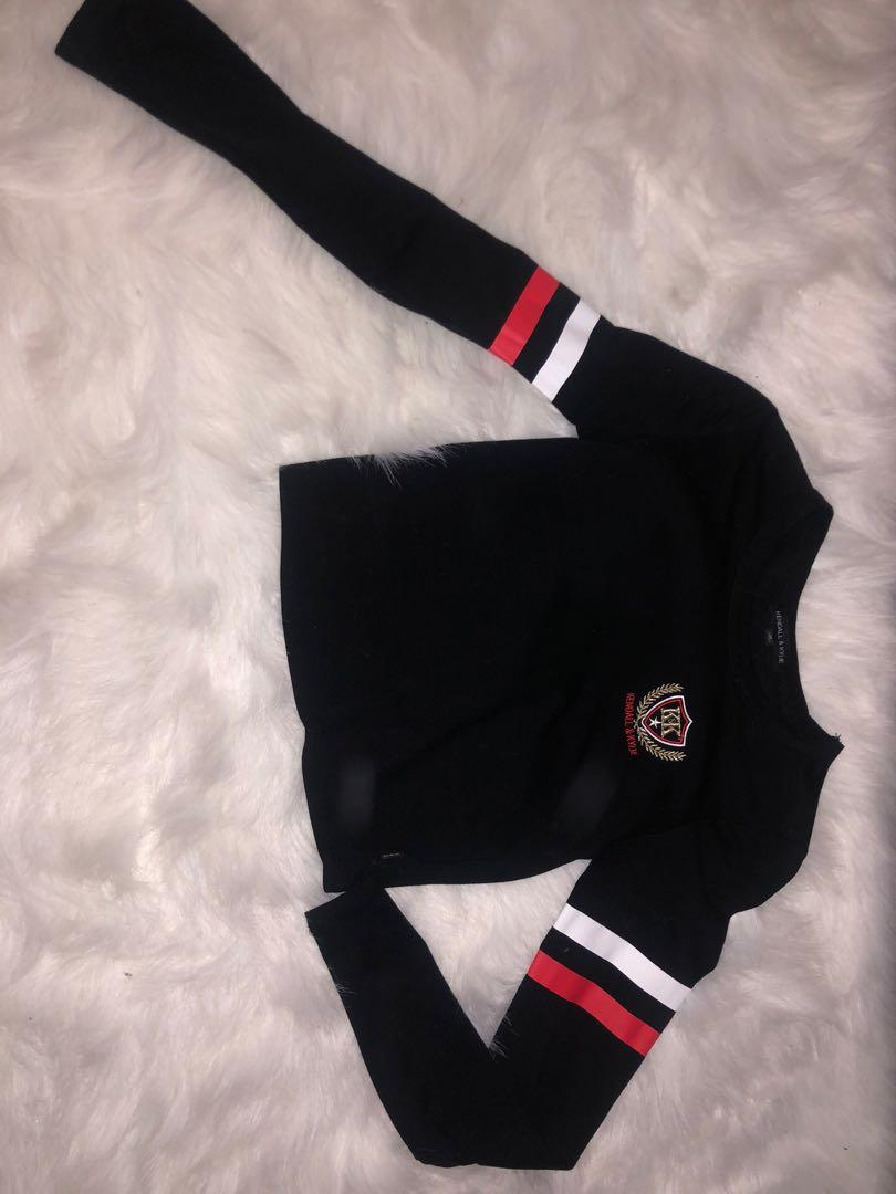 Kendal and Kylie long sleeve crop