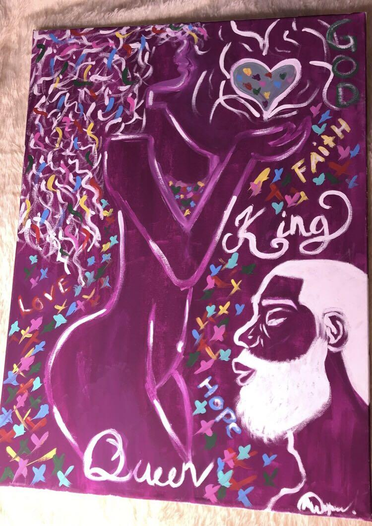 King & Queen Acrylic Painting