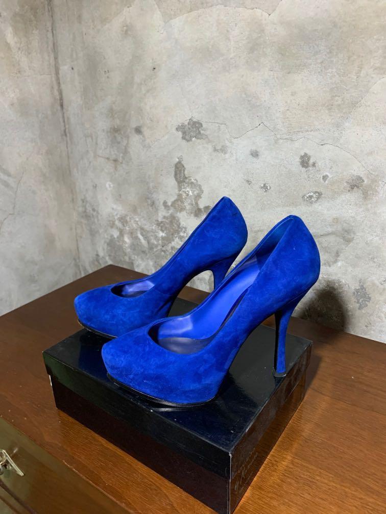 Marciano blue suede heels