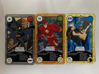 McDonald's Happy Meal Toy - Justice League Cards