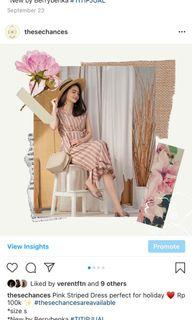 Mididress gaun dress piknik blouse