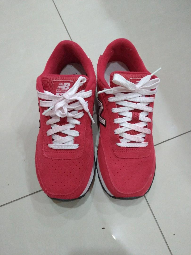 New Balance574紅色運動鞋9成新24.5