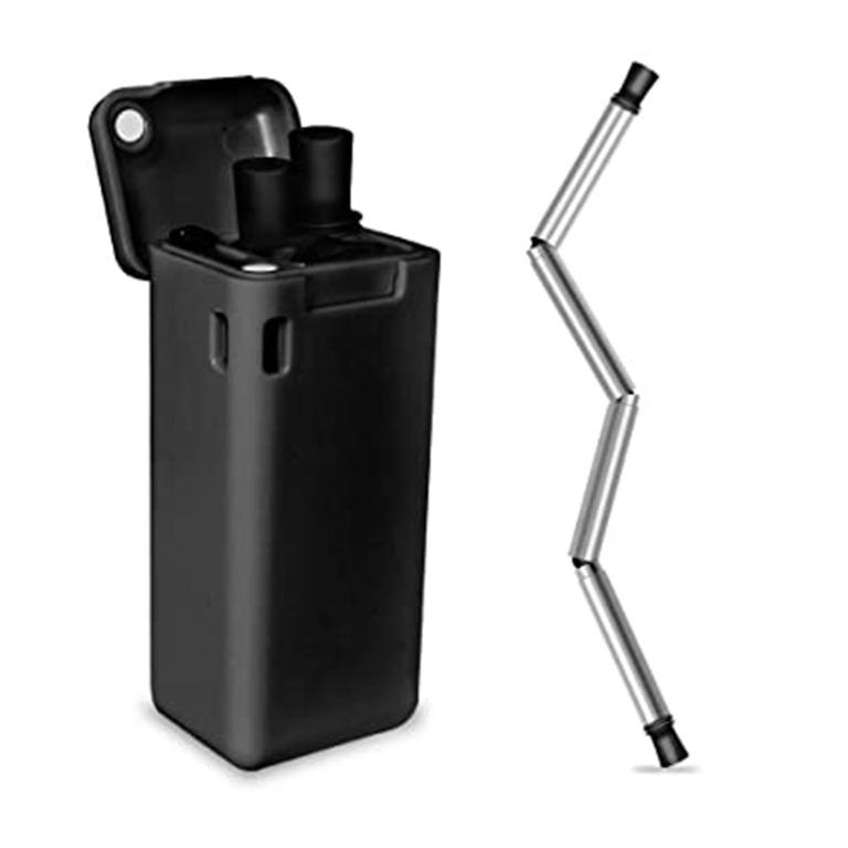 [NEW] Sedotan Lipat Silicone - Collapsible Foldable Straw Stainless