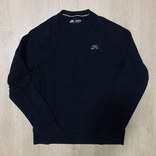 Nike SB Crew 大學T 長袖T 衛衣 刺繡 穿搭 黑