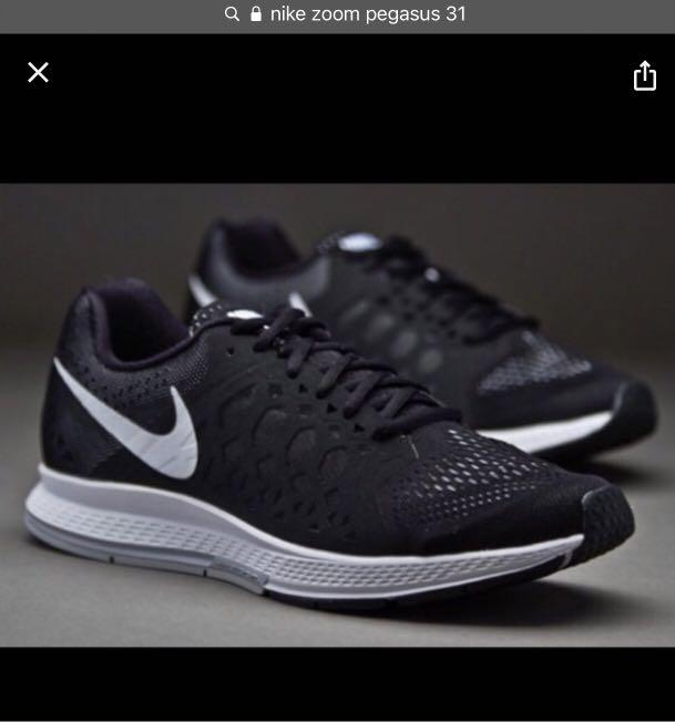 Nike zoom Pegasus 31 black shoes size 9