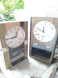 Old Antique Vintage Mechanical Wall Clocks