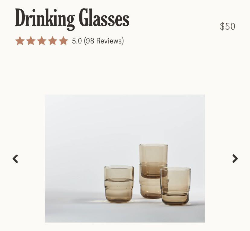 OUR PLACE - DRINKING GLASSES