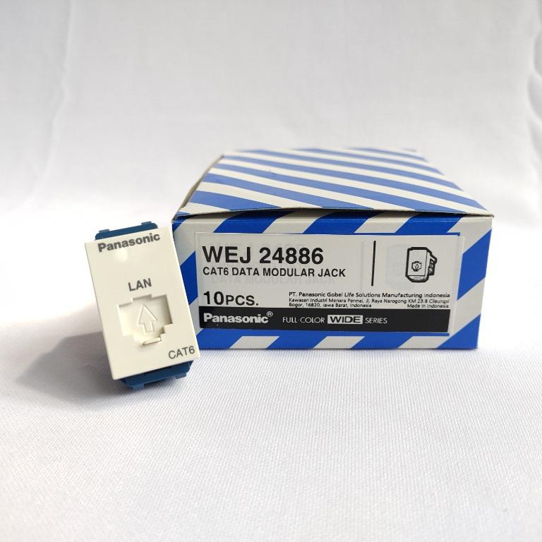 Panasonic Socket Data Cat 6 Modular Jack - WEJ 24886