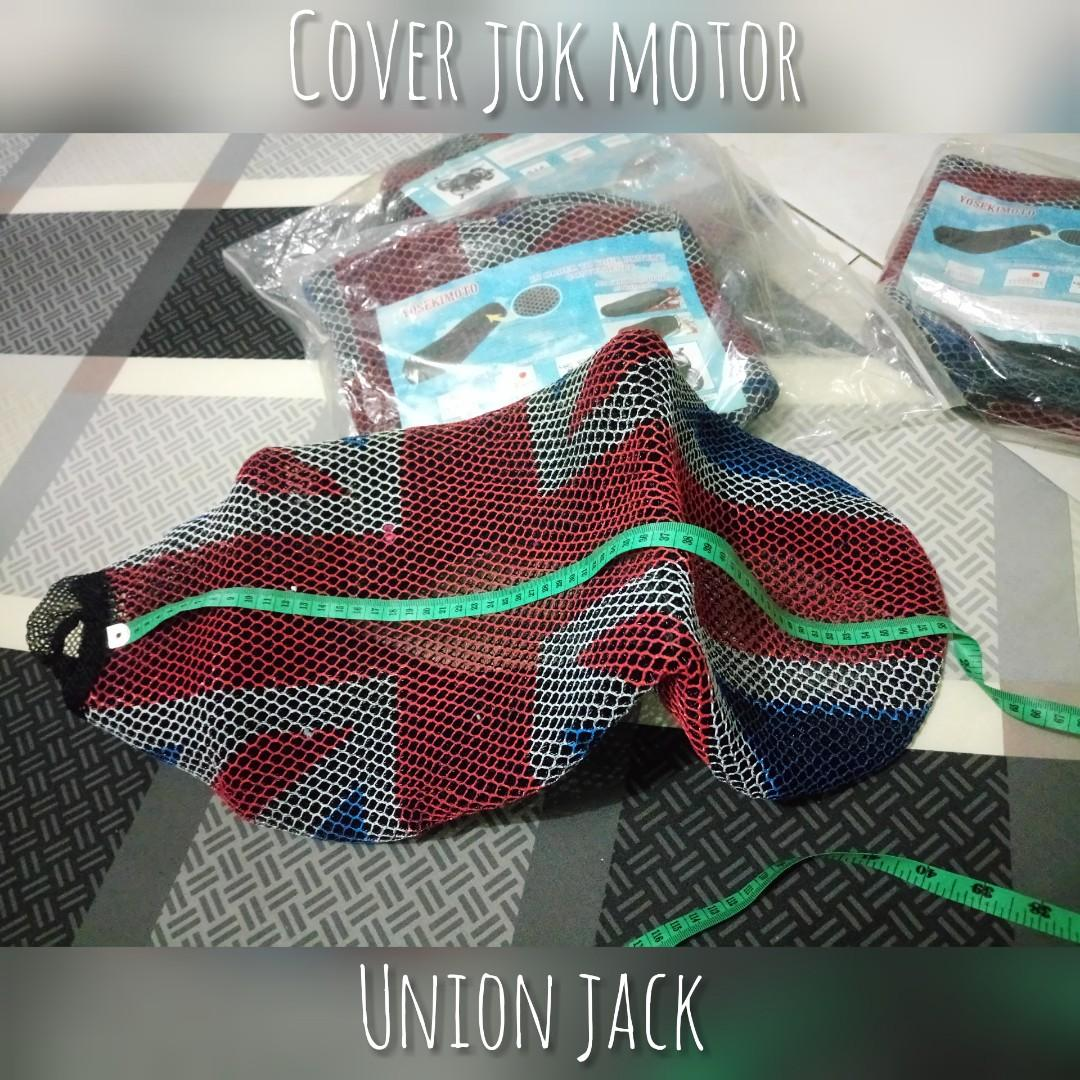 Preloved Cover Jok Sarung Motor Anti Panas Union Jack #special1010