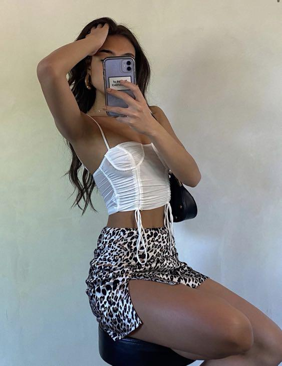 Princess Polly Yate Leopard Mini Skirt
