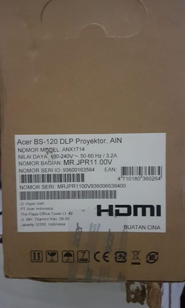 Proyektor Acer Series BS120 DLP