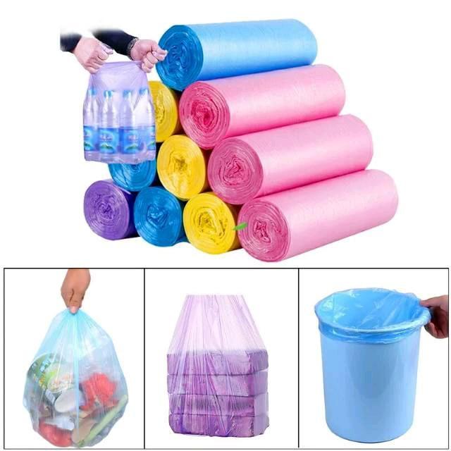 roll 15pcs 45x50cm kantong plastik sampah/kantong plastik gulung [ 35GR]