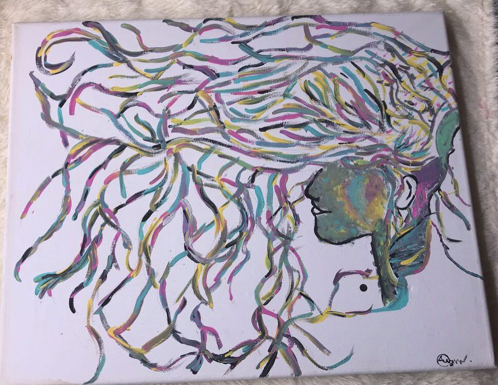 """Soul ties"" Acrylic Painting"