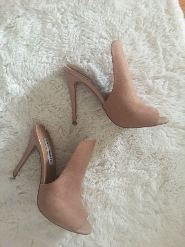 STEVE MADDEN heeled mules size 6