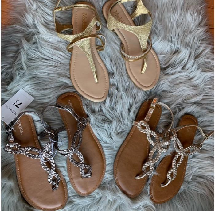 strappy thong sandals (size 7.5)