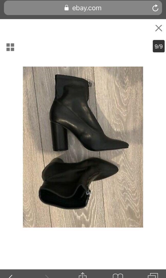 Tag *Zara Front Zipper Boots