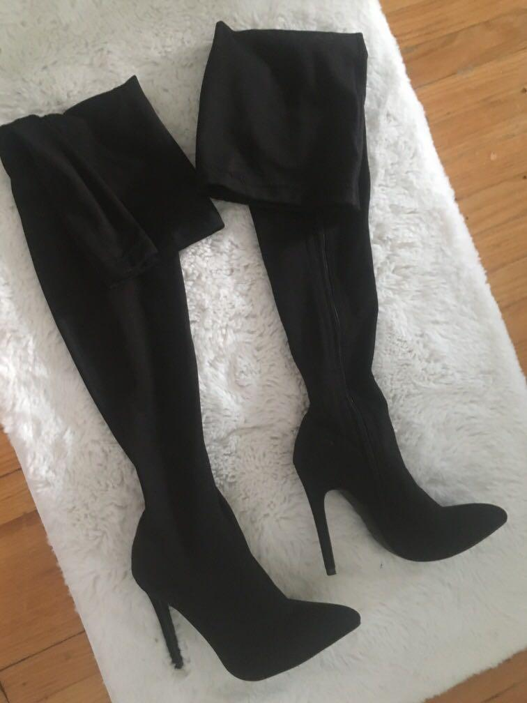 Thigh high knee boots size 6