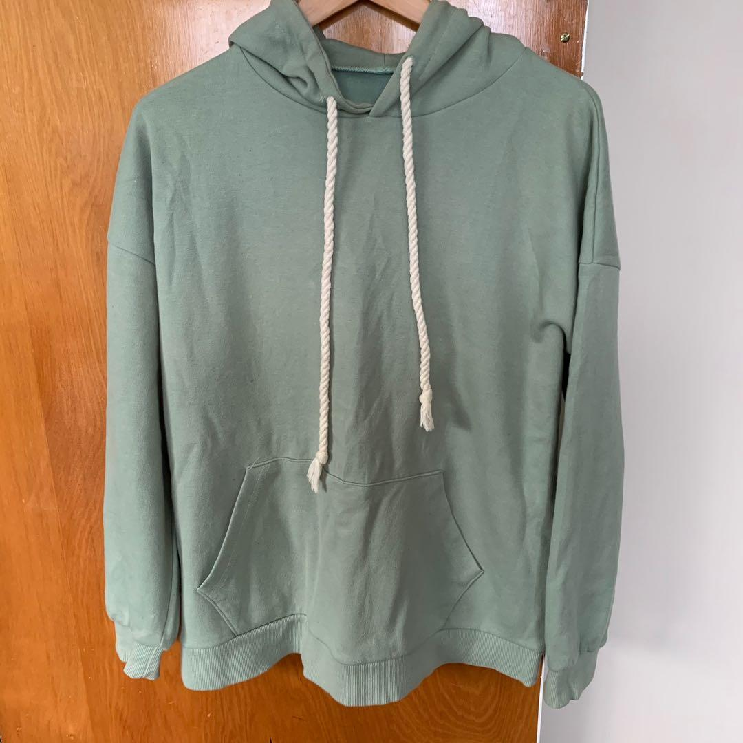 Turquoise plain Hoodie