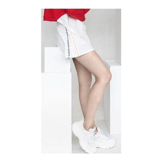 [中國古著]UMINIFIER明霓菲女款A字拼接拉鍊運動短褲