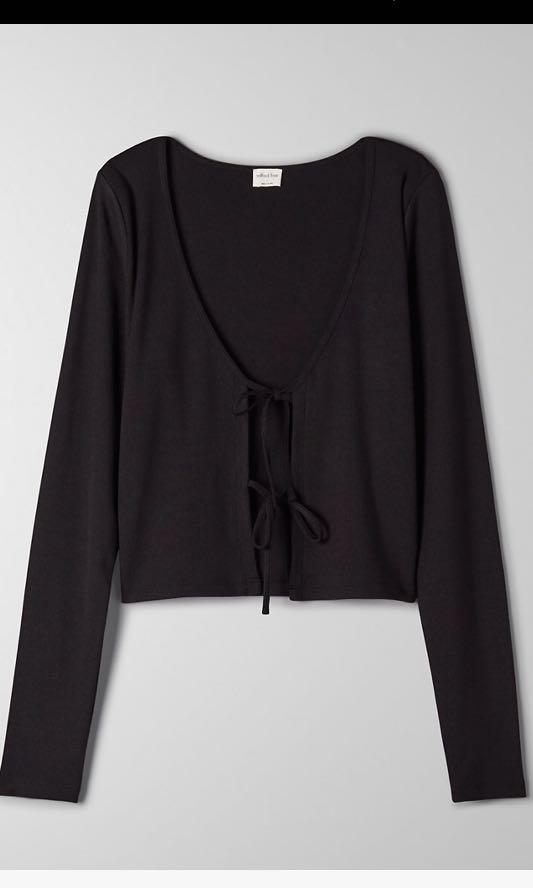Wilfred Tie Front Long sleeve