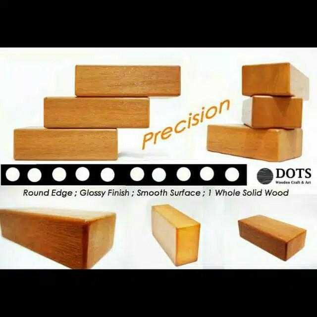 Yoga blok kayu / balok kayu yoga / wood yoga block