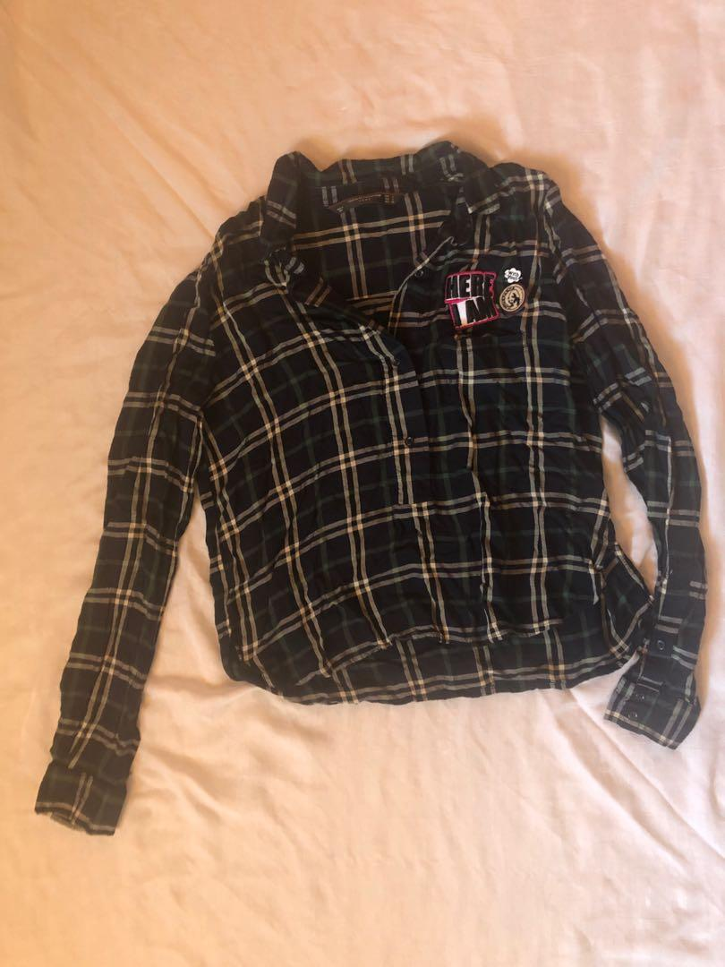Zara plaid shirt size small
