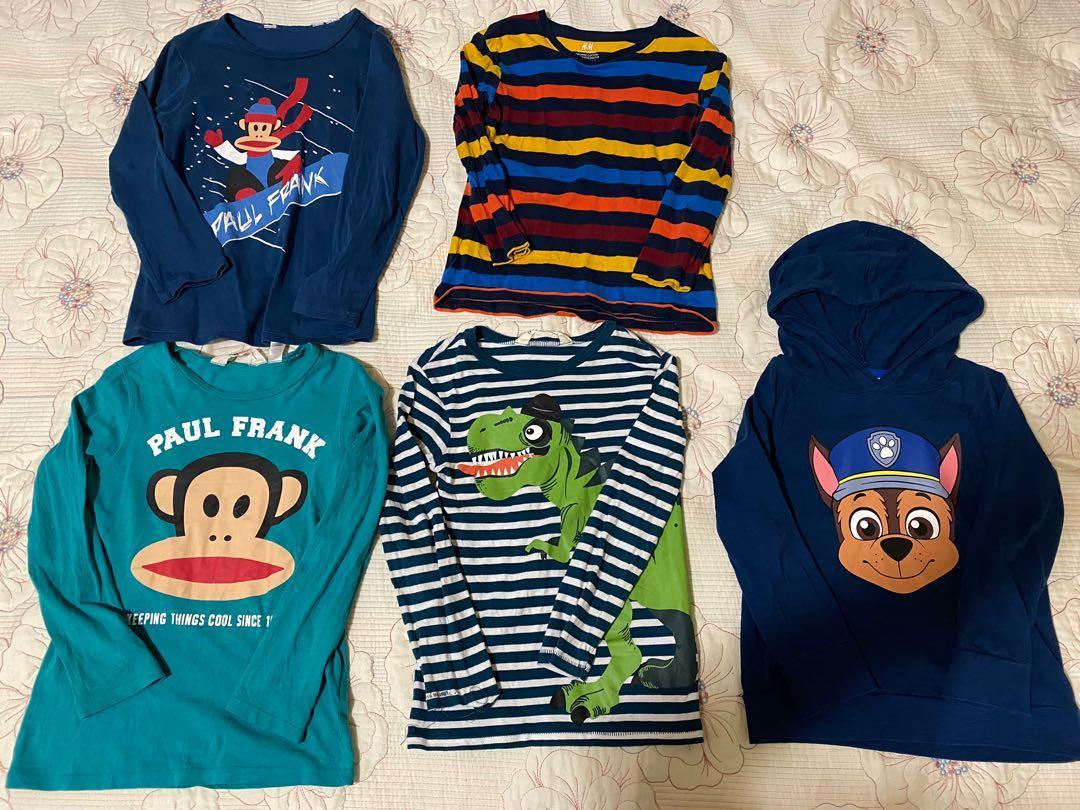 H&M 5 pack jersey shirts