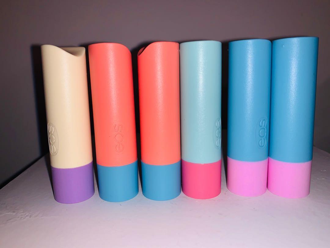 6 brand new eos flavour lab lip balm sticks
