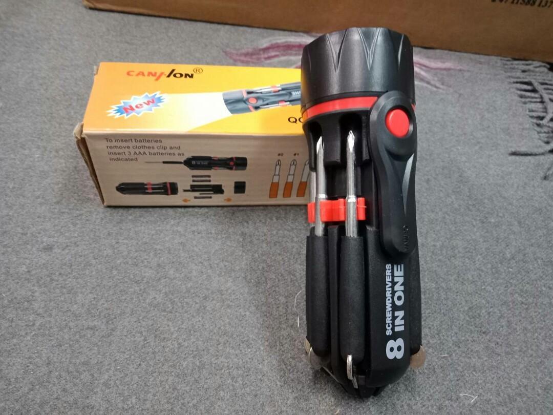 8合1  收納工具手電筒