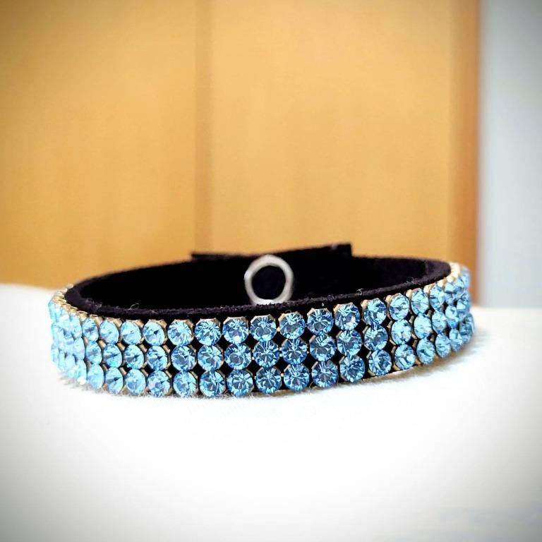純手作-氣質典雅水藍鑽手環