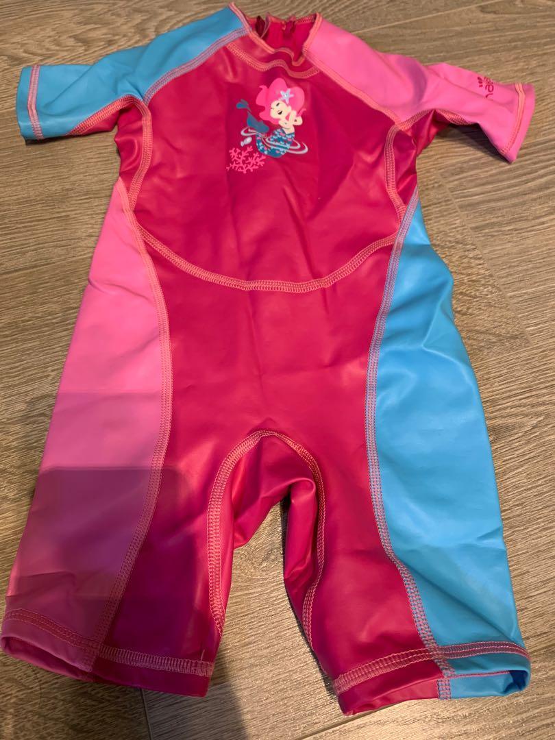 迪卡儂女童防寒泳裝/水母衣