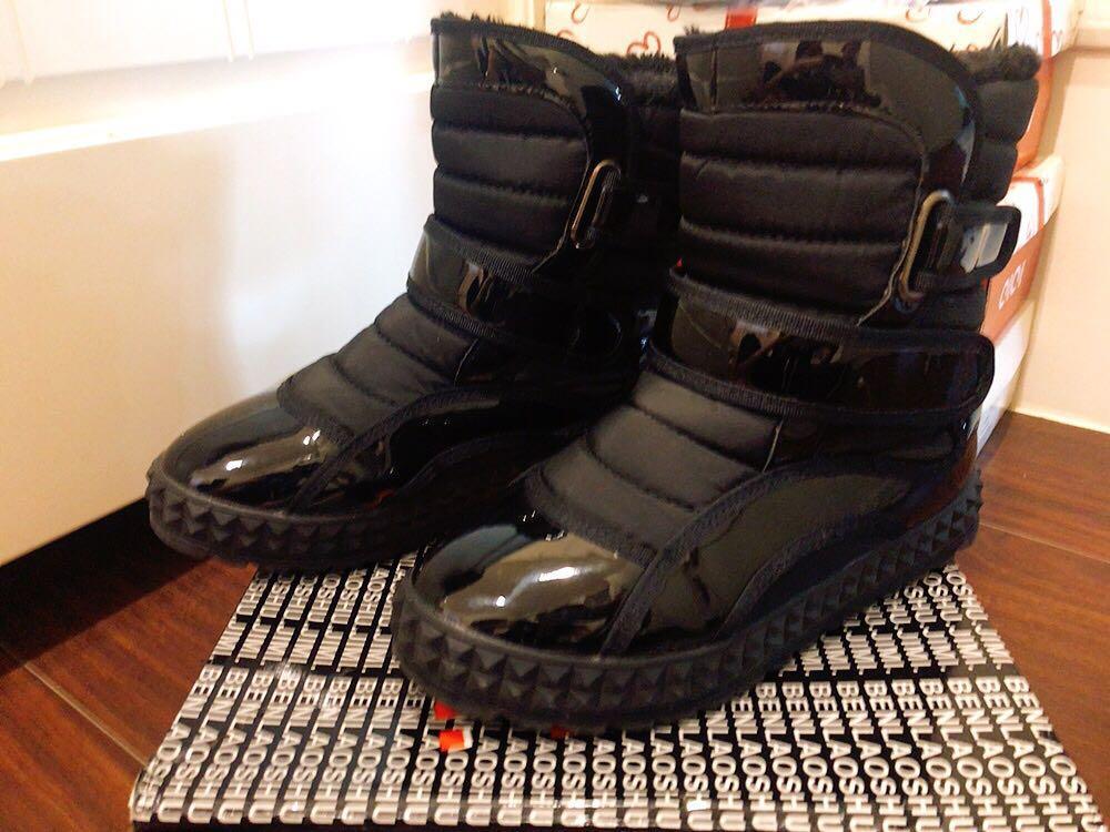 女童黑色鋪棉靴
