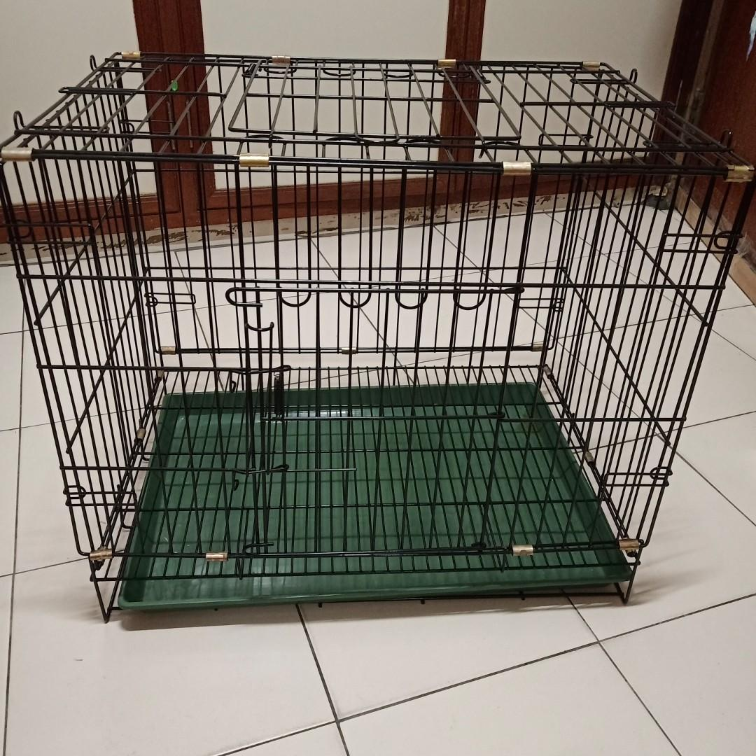 粉體靜電烤漆單門摺疊籠、寵物籠