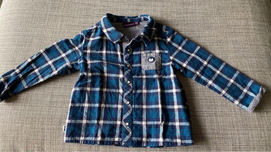 幼童襯衫 可以當薄外套 2T 86cm