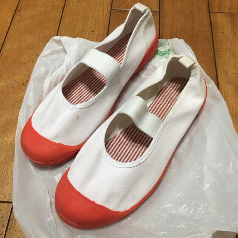 二手 日本帶回 室內鞋 22.5cm 白粉