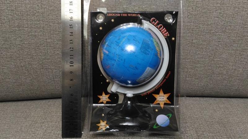 地理教育 小地球儀 學生教學用品 下方附一個削鉛筆機 全新品