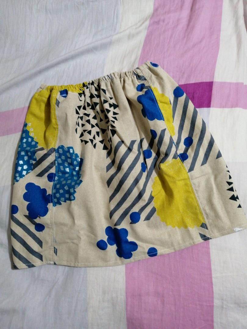 手作 短裙 日本古佳悅子設計布 +sousou布