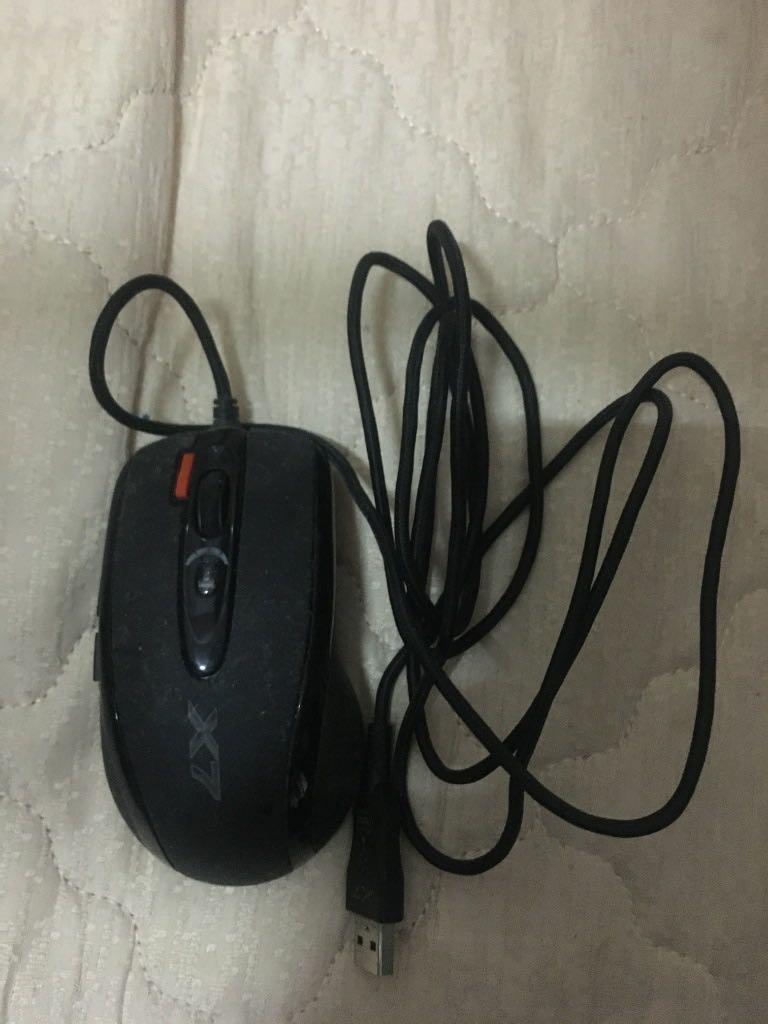 雙飛燕(A4tech) X7火力王 X718-F 電競滑鼠 X7滑鼠 腳本滑鼠(二手品)