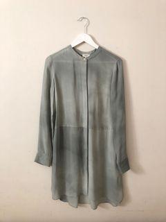 aritzia wilfred 100% silk tunic size s