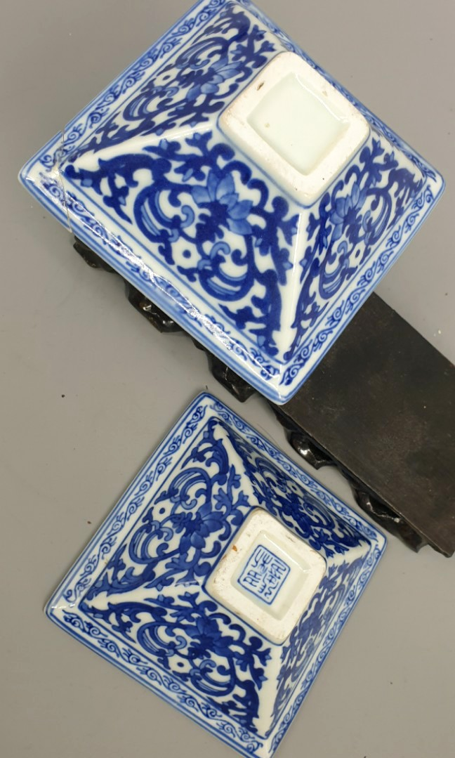 Blue White Small Display Plate 2pcs Antiques Vintage Collectibles On Carousell