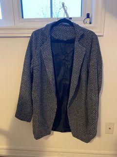 BNWT Black and White Tweed Coat