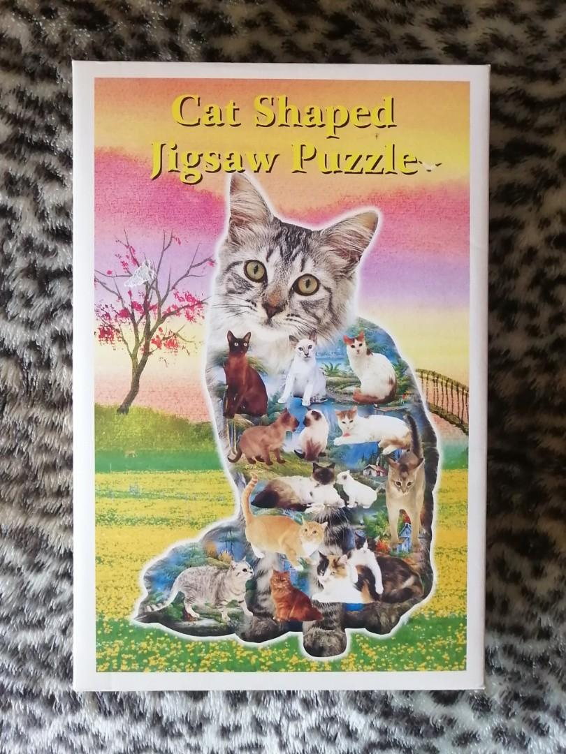 Cat Shaped puzzle of cats
