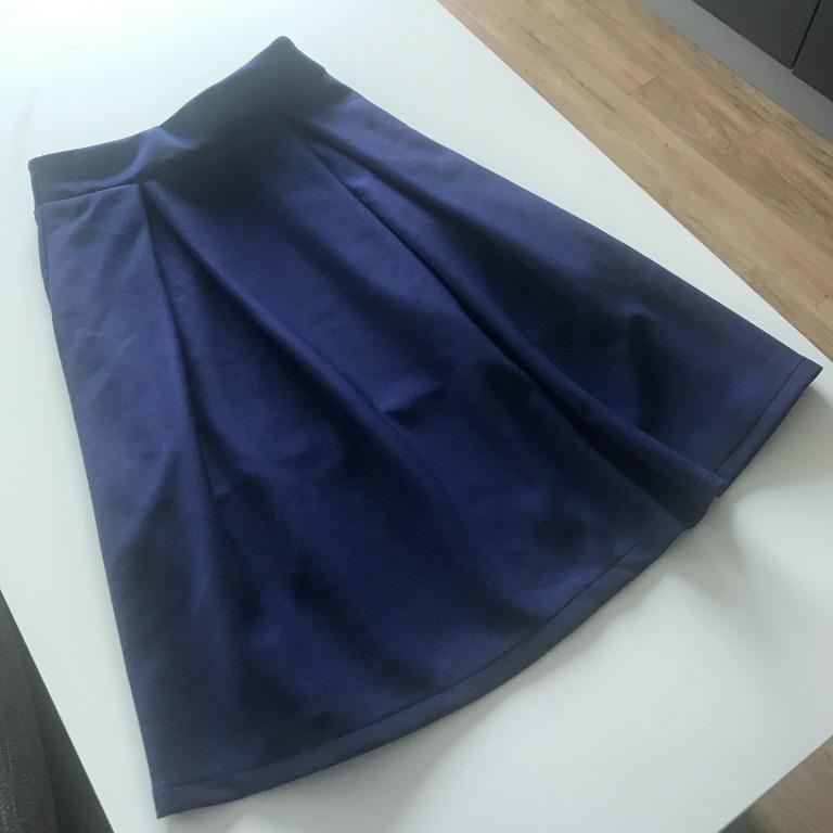 Dark Blue Midi Skirt Size Small