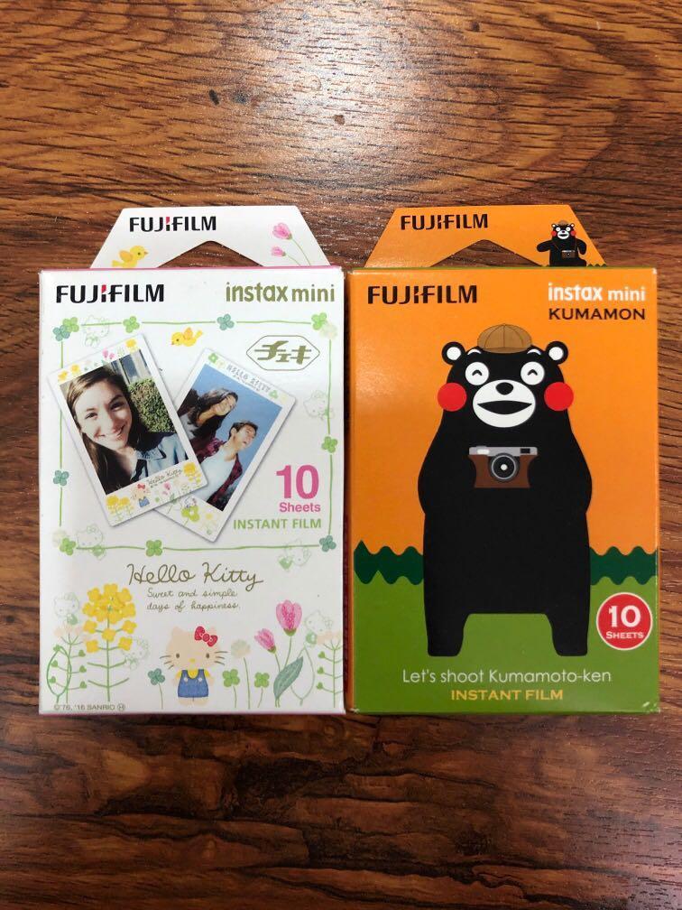 fujifilm 拍立得底片相紙 熊本熊/花邊